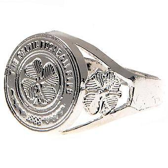 Celtic FC Silver Plated Crest Ring