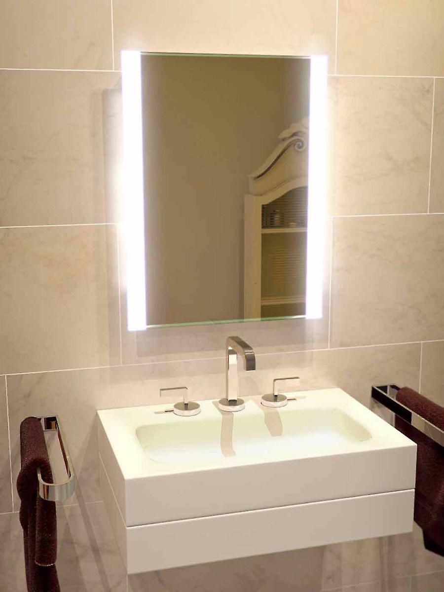 Récif bord Double salle de bain miroir avec k51v prise rasoir
