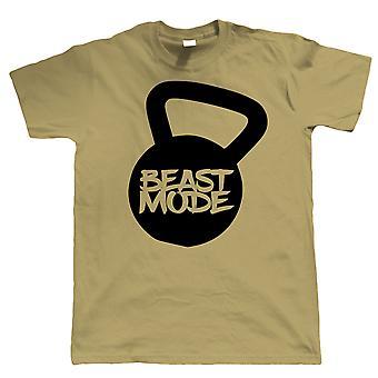 Beast Mode, Mens T Shirt - Kettlebell Graphic Gift Him
