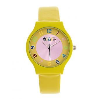 Crayo Jubilee Unisex Watch - Yellow