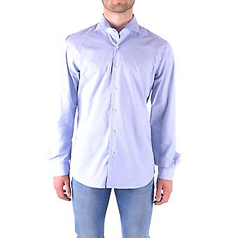 Fay Ezbc035034 Men's Light Blue Cotton Shirt
