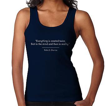 Mindfulness Robin S Sharma criou duas vezes cito colete feminino