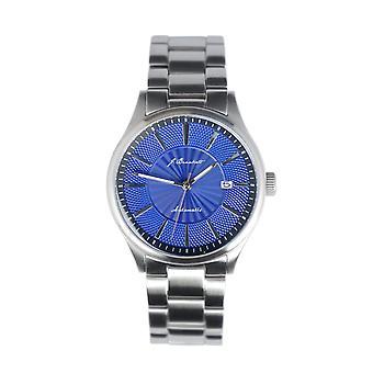 J. Brackett Navigli Bracelet Watch w/Date - Silver/Blue