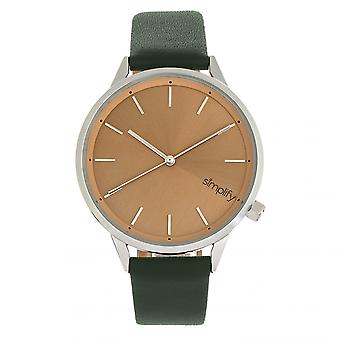 Simplify The 6700 Series Watch - Forest Green/Silver