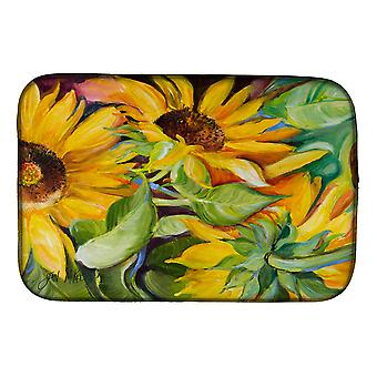 Carolines Treasures  JMK1122DDM Sunflowers Dish Drying Mat