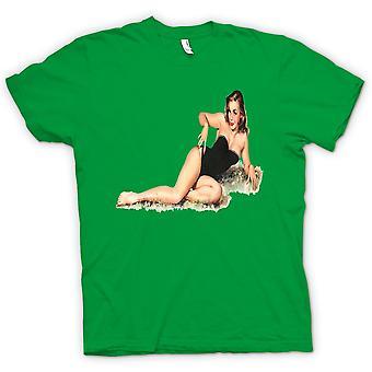 Mens T-shirt - Basque on Grass - Pin Up