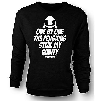 Womens Sweatshirt ettall pingvinene stjele min tilregnelighet