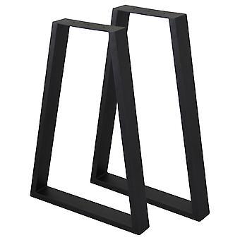 2 x trapezium gambe tavolo / coppia mobili industriali Scrivania panca commerciale panca