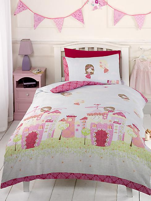 Fairy Castle Duvet Cover and Pillowcase Set