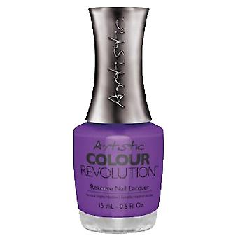 Artistic Colour Revolution Retro Redux Collection Reattiva Nail Lacquer - Pin Up Purple 15ml (2300021)