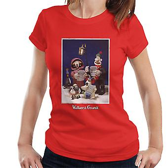 Wallace And Gromit Christmas Carol Women's T-Shirt