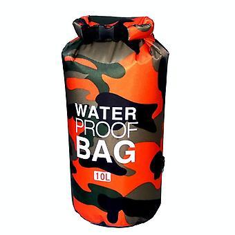 Waterdichte tas 10 L, camouflage-oranje