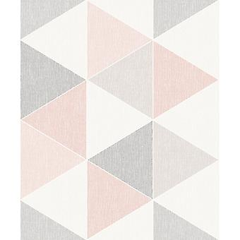 Arthouse Scandi Range Triangle Geometric 3D Effect Contemporary Pastel Smooth Wallpaper 908204