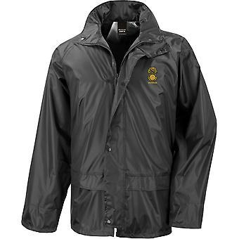 Royal Northumberland Fusiliers veteran-lisensiert britiske hæren brodert vanntett regn jakke