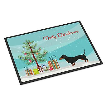 Dachshund Christmas Tree Indoor or Outdoor Mat 24x36