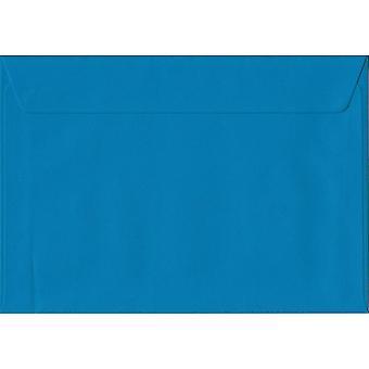 Eisvogel Blue Peel/Dichtung C6/A6 farbige blaue Umschläge. 100gsm FSC nachhaltigen Papier. 114 mm x 162 mm. Wallet-Stil-Umschlag.