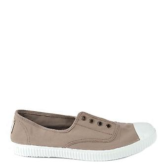 Victoria Shoes Dora Stone Canvas Plimsoll