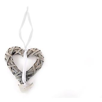 Сердце Wellindal повесить Pajaro плетеные (Рождество, украшения, украшения елки)
