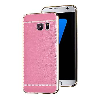Samsung S7 Edge Case Pink Leather - CoolSkin Leather