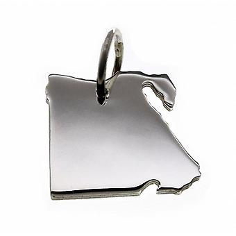 Trailer map Egypt pendant in solid 925 Silver