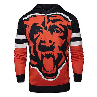 NFL Ugly Sweater Big Logo Knit Hoody - Chicago Bears