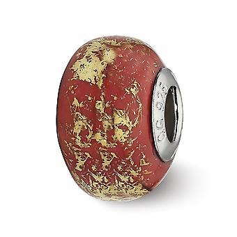 925 sterlinghopea kiillotettu antiikki viimeistely reflections punainen kultafolio keraaminen helmi charmia riipus kaulakoru korut G