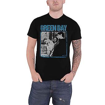 Green Day T Shirt Photo Block Distressed Band Logo new Official Mens Black