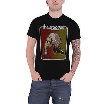 Iggy Pop & The Stooges T Shirt Iggy Bent Double Logo new Official Mens Black