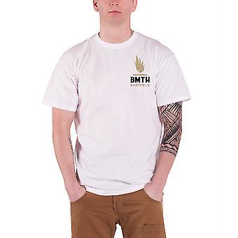 Bring Me The Horizon Mens T Shirt White Sheffield Snake band logo Official