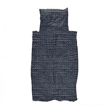 Snurk pościel Twirre Chacoal czarny 135 x 200 cm 100% bawełna