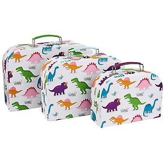 Sass & Belle Set Of 3 Roarsome Dinosaurs Suitcases