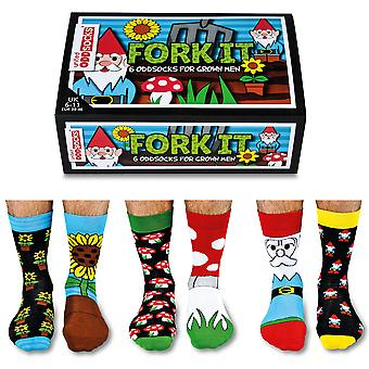United Oddsocks Fork It Socks Gift Set For Men