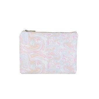 Jewelcity Womens/Ladies Marbled Pastel Big Flat Makeup Bag