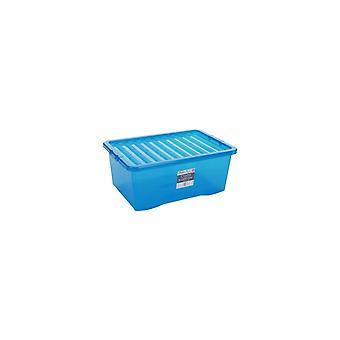 Wham Storage Pallet Deal Of 100 - 45 Litre Plastic Boxes With Lids
