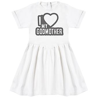 I Love My GodMother Black Outline Baby Dress