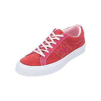 Converse ONE STAR OX ENAMEL RED/PINK POP Unisex Sneaker Red Turn Shoes