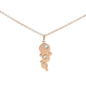 Collier et pendentif Les Interchangeables A59115   - Bulle strasse Dor� Rose Femme
