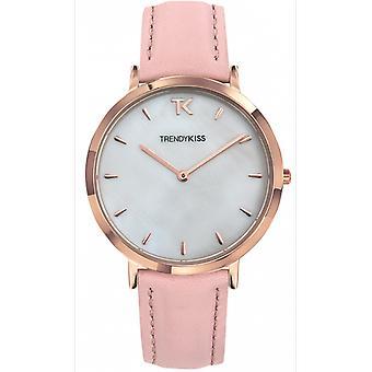 Watch Trendy Kiss TRG10089-01 - leather pink dial white nacreous wife LOVISA