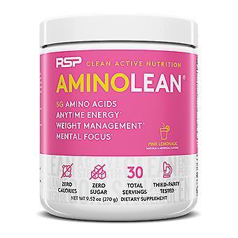 Rsp aminolean - pre-workout energy, fat burner powder, amino acids, recovery, pink lemonade (30 servings)