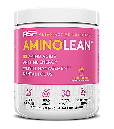 Rsp aminolean - pre-workout energy, fat burner powder, amino acids, recovery, pink lemonade (30 servings)