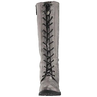 Dirty Laundry Womens ROSET SHIMMER Leather Closed Toe Knee High Combat Boots