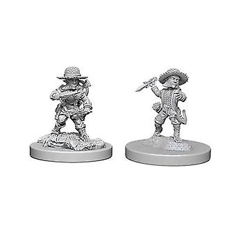 Pathfinder Batallas Deep Cuts Sunpainted Miniaturas Macho Halfling Rogue (Pack de 6