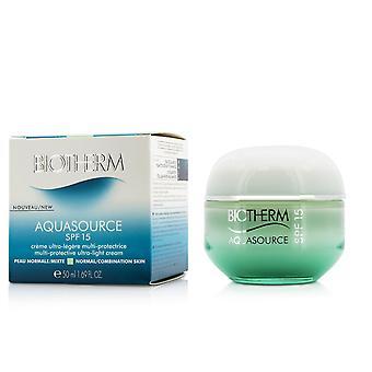 Crema ultraligera multiprotecta Aquasource spf 15 para piel normal/combinada 203501 50ml/1.69oz