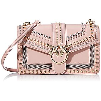 Pinko Love Classic Mix Studs Cl Vite Pink Women's Shoulder Bag (Light Pink) 7.5x16.5x27 cm (W x H x L)
