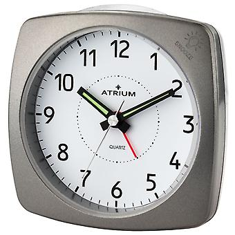 ATRIUM alarm clock Analog quartz anthracite me. A251-4 without ticking with light and snooze