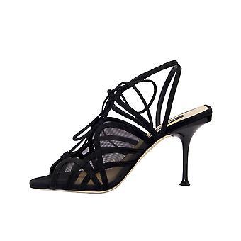 Sergio Rossi A88430mafm461000 Women's Black Suede Sandals