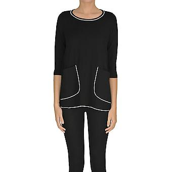 Alessandro Ezgl333021 Women's Black Viscose Sweater