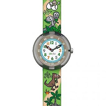 Flik Flak Watches Fbnp048 Sauruses Return Textile Watch