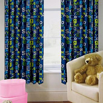 Ready Steady Bed Alphabet Design Children's Bedroom Curtains 66