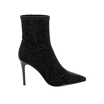 Kendall + Kylie Kkmillie01 Women's Black Fabric Ankle Boots